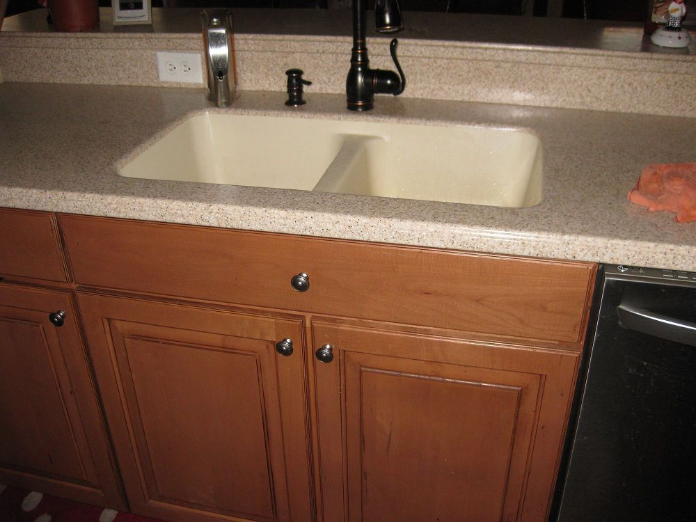 Replacing A Corian Sink With A Farmhouse Sink Corian Sink