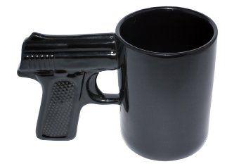 Birthday Gift Ideas For Scorpio Man AGS Brands Ceramic Gun Mug Black 169 Ounce