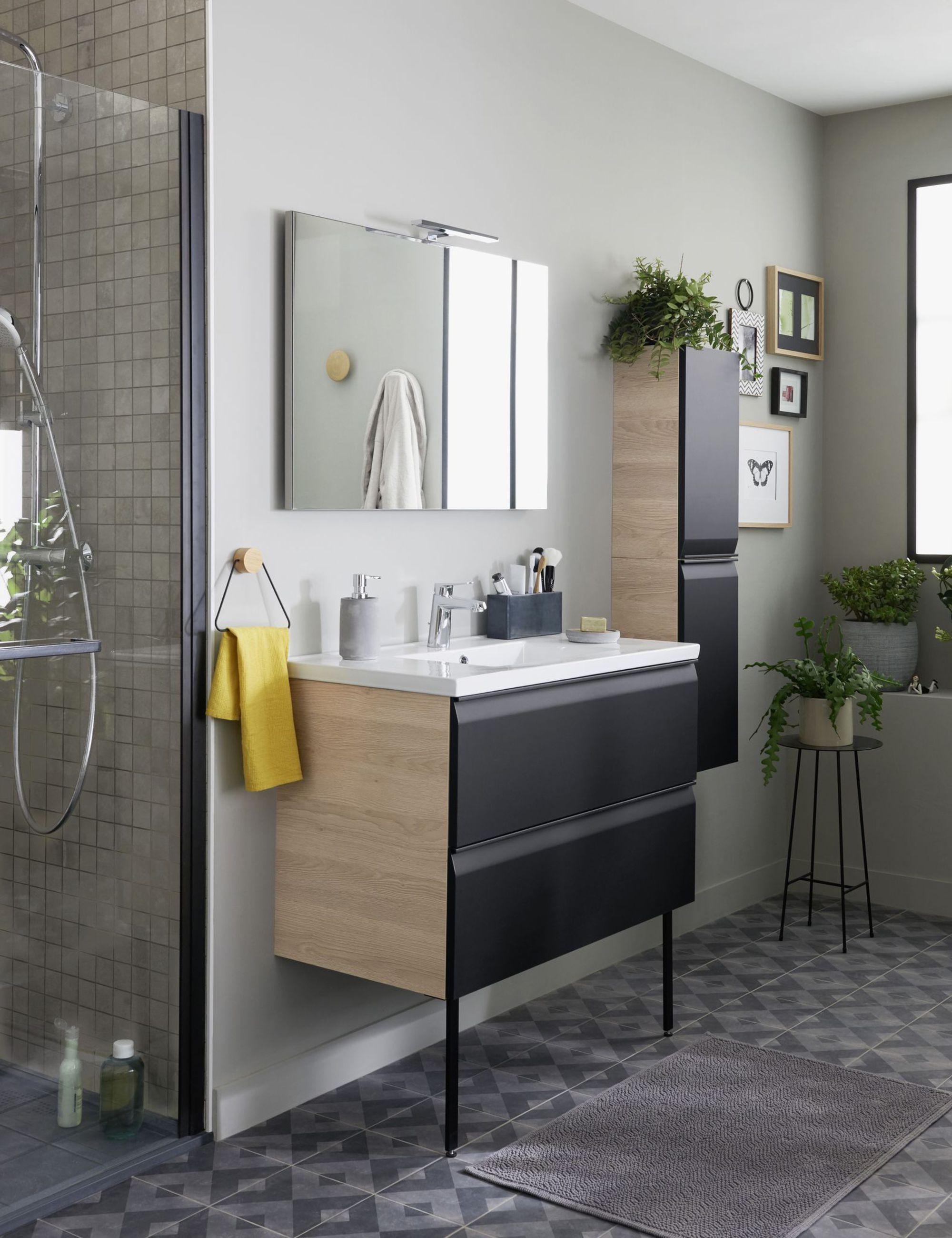 Meuble salle bain bois design ikea lapeyre - Meuble d angle salle de bain ikea ...