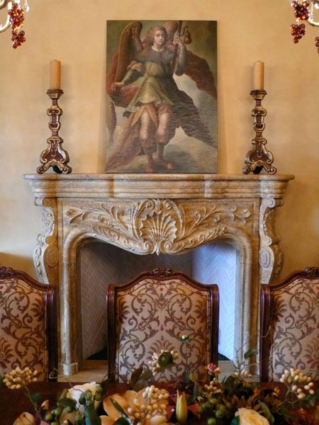 French Chateaux Mal Maison In Spanish Travertine