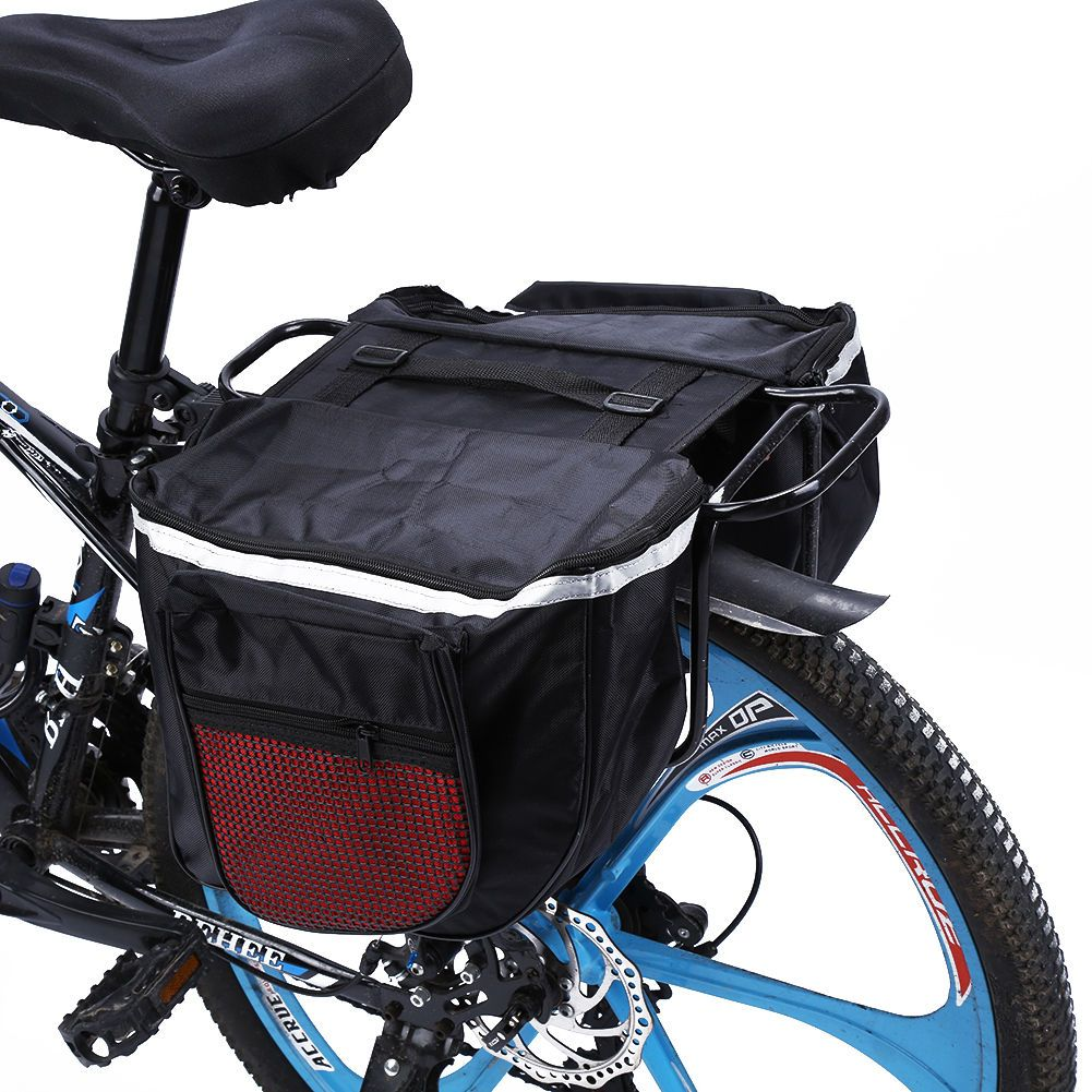Double Side Rear Pannier Bike Bag Water Resistant Cycling Bicycle Rack Carrier