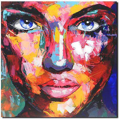 Original Gemälde Leinwand Acryl Modern Gesicht Abstrakt Bild 842