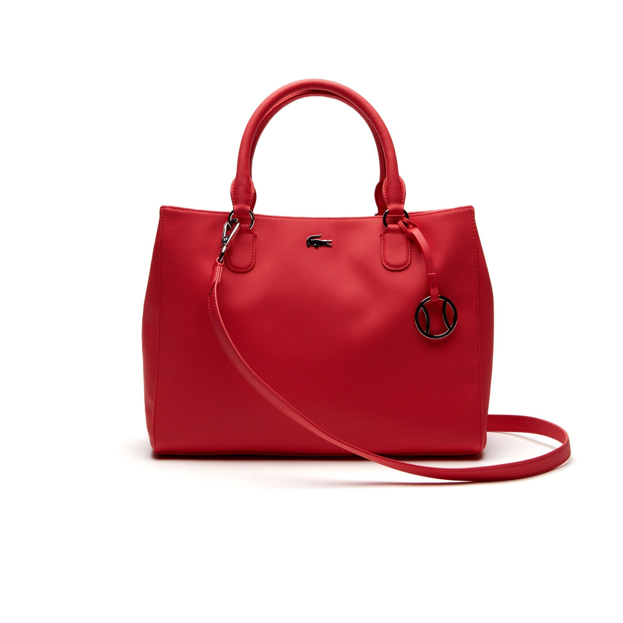 5daba77bcb98c6 LACOSTE Women s Daily Classic Fine Piqué Grains Dual Carry Crossover Bag -  teaberry.  lacoste  bags  shoulder bags  canvas  pvc  charm  accessories