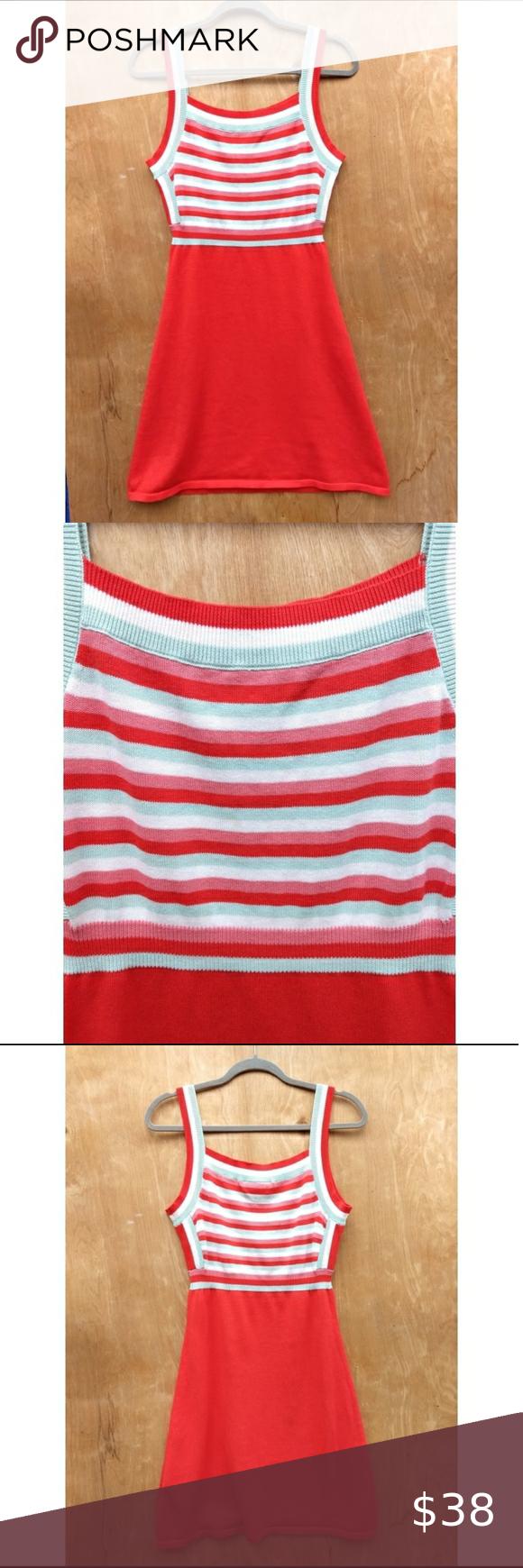 Modcloth Red Stripe Sleeveless Sweater Mini Dress Mini Sweater Dress Mod Cloth Dresses Sleeveless Sweater