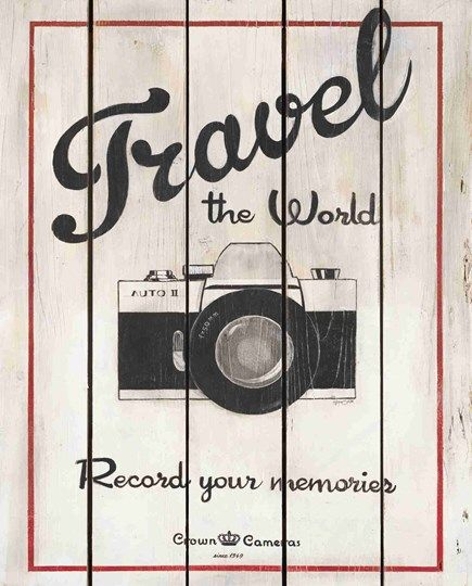"""Art In Motion.  Love this kind of art!  """"Travel the World - Record your memories - Crown Cameras."""
