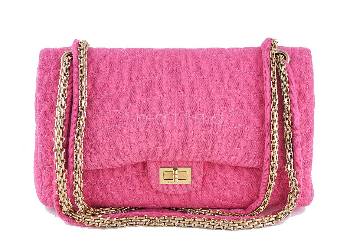 4fc5f62d55056f Chanel Pink Crocodile Quilted Canvas 2.55 Reissue Classic Double Flap 226  Bag