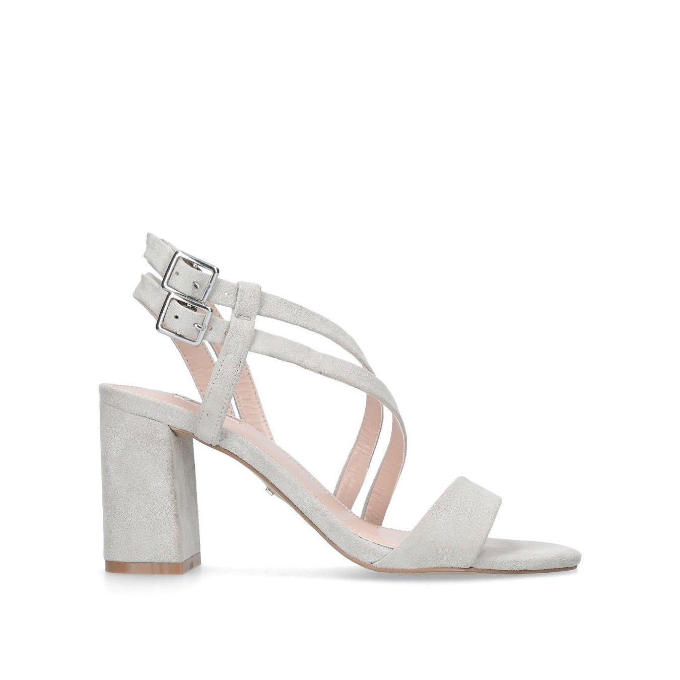 Grey 'Group' mid heel sandals | Sandals