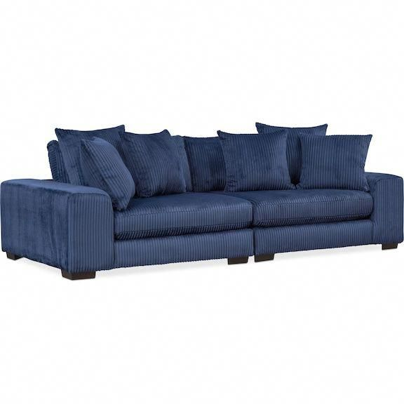 Lounge 2-Piece Sofa - Navy Value City Furniture and Mattresses