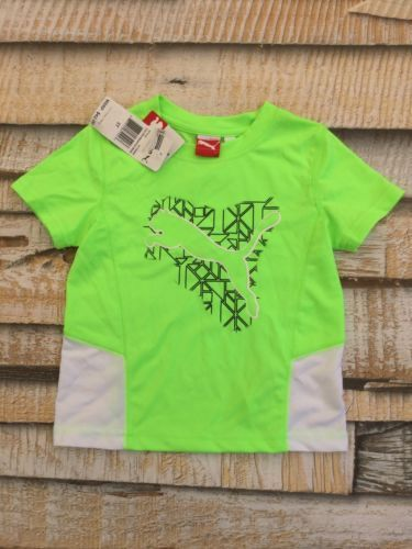 NWT $42 Puma Boys Sz 3T Active Athletic Neon Green Shirt Sport Lifestyle New