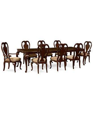 Delmont 9 Piece Dining Room Furniture Set