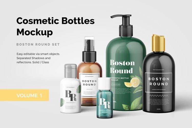 Cosmetic Bottles Mockup Vol 1 41492 Mockups Design Bundles In 2021 Cosmetics Mockup Cosmetic Bottles Bottle Mockup