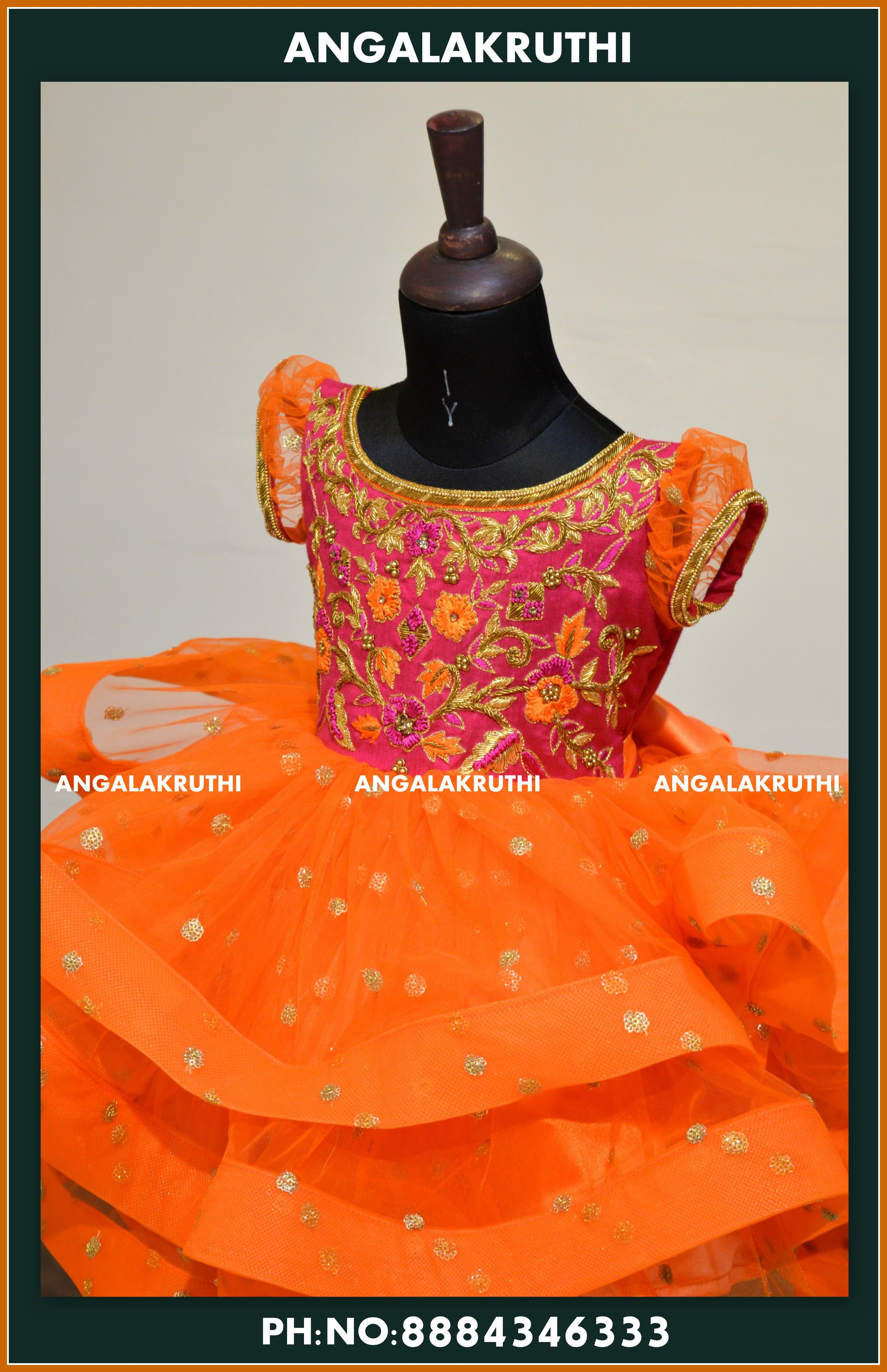 4f9a90a02b1 Advertisement; kids frock designs by Angalakruthi . custom designs for kids  kids wear designs in bangalore party
