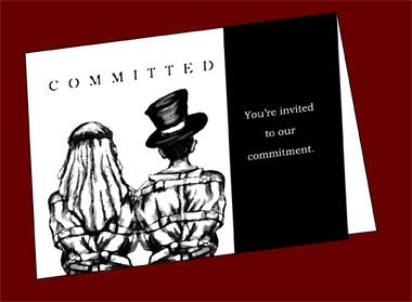 Find This Pin And More On Goth Wedding Drive Each Other Crazy Invitations