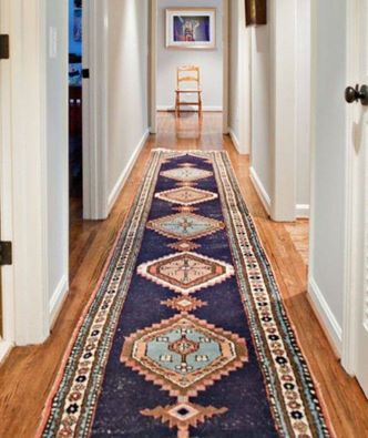 To Make A Narrow Hallway Seem Wider Put Down A Rug Runner And Be Sure To Leave 3 Inches On Both Sides Ranch House Hallway Designs Home