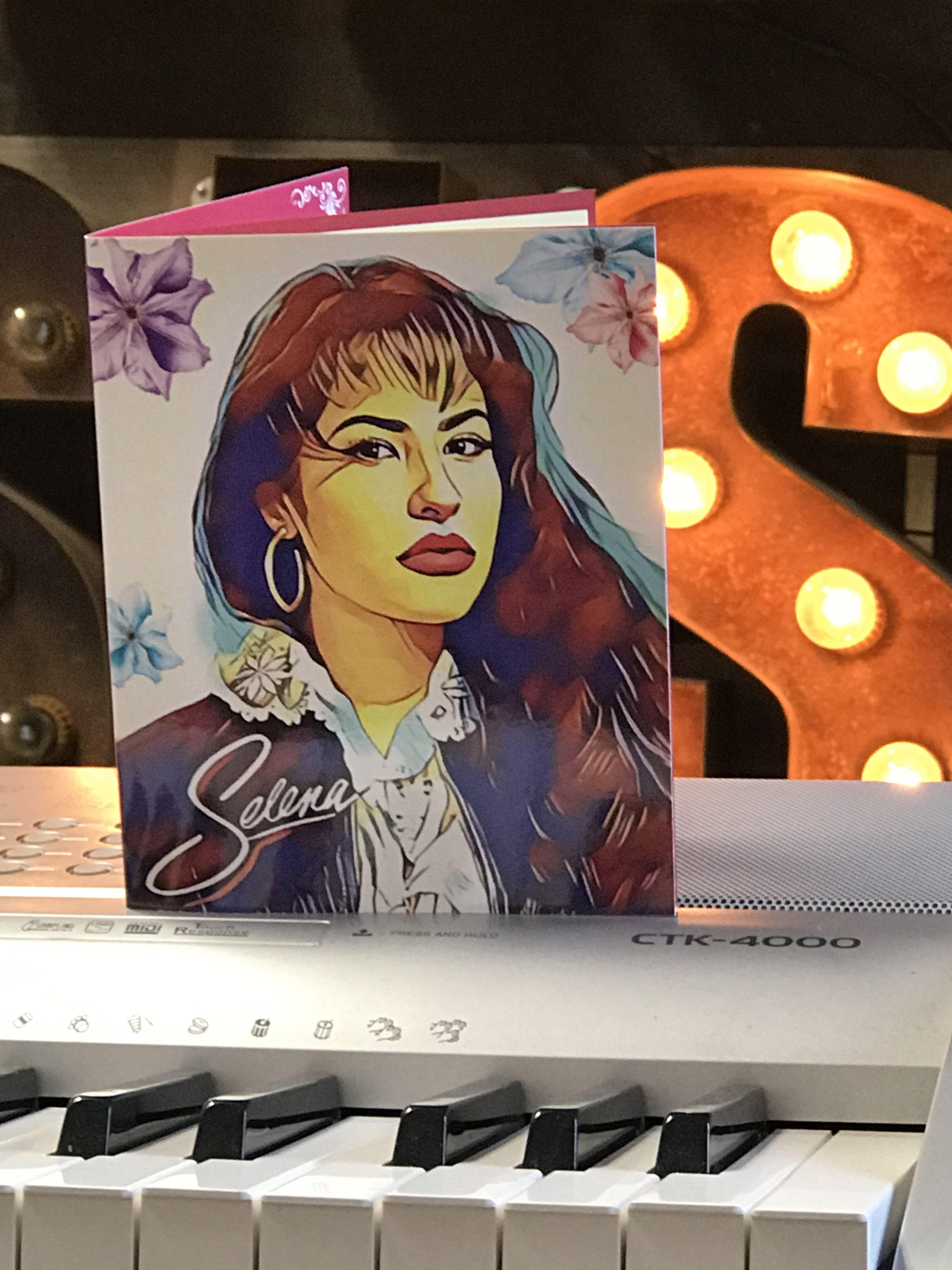 Selena Quintanilla Como La Flor Pop Up Greeting Card