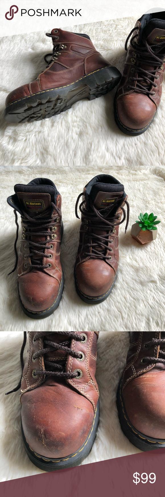dr martens steel toe safety shoe slip resistant