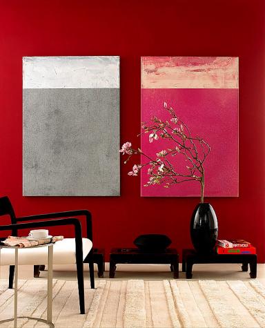 Rote Wand Mit Rottonen Wohnen Roten Wande Schoner Wohnen Farbe Und Zimmerdekoration