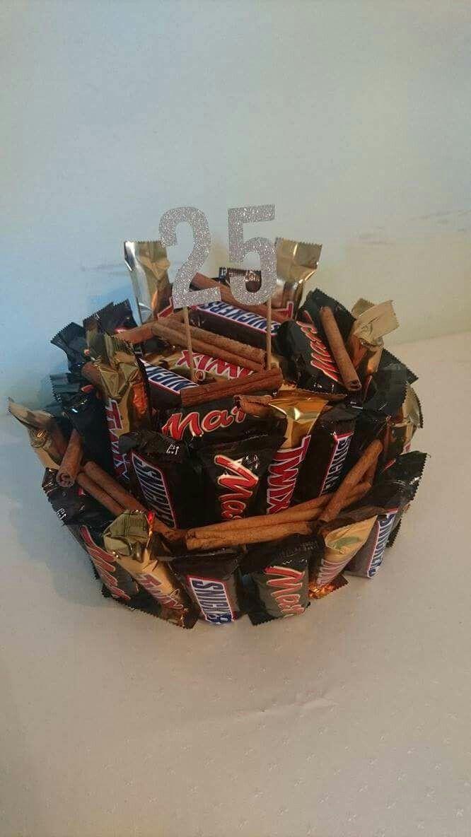 present 25 år Chokoladebar og kanel kage 25 års | egne sysler | Pinterest present 25 år