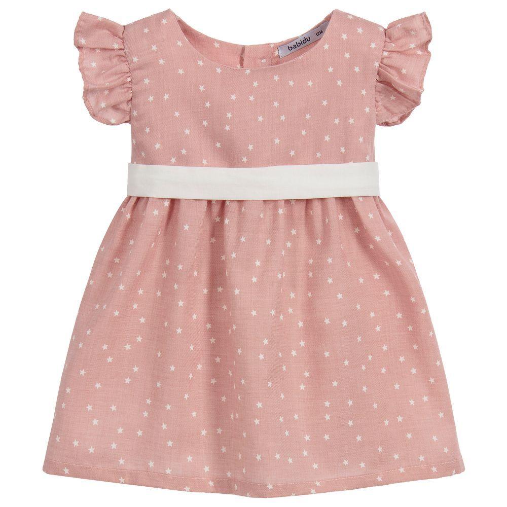 857510617 Girls Pink Cotton Dress