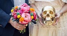 """Una boda de ensueño inspirada en """"El día de los muertos"""" ¡Atrévete!"""