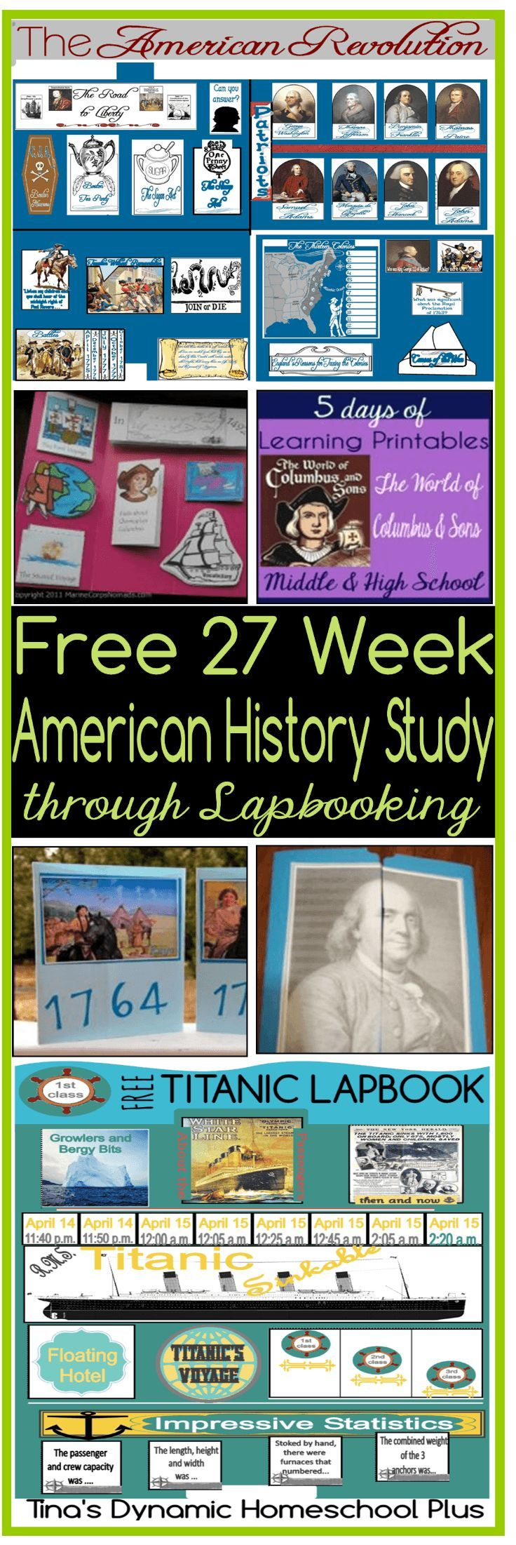 Free 27 Week American History Study through Lapbooking | Curriculums ...