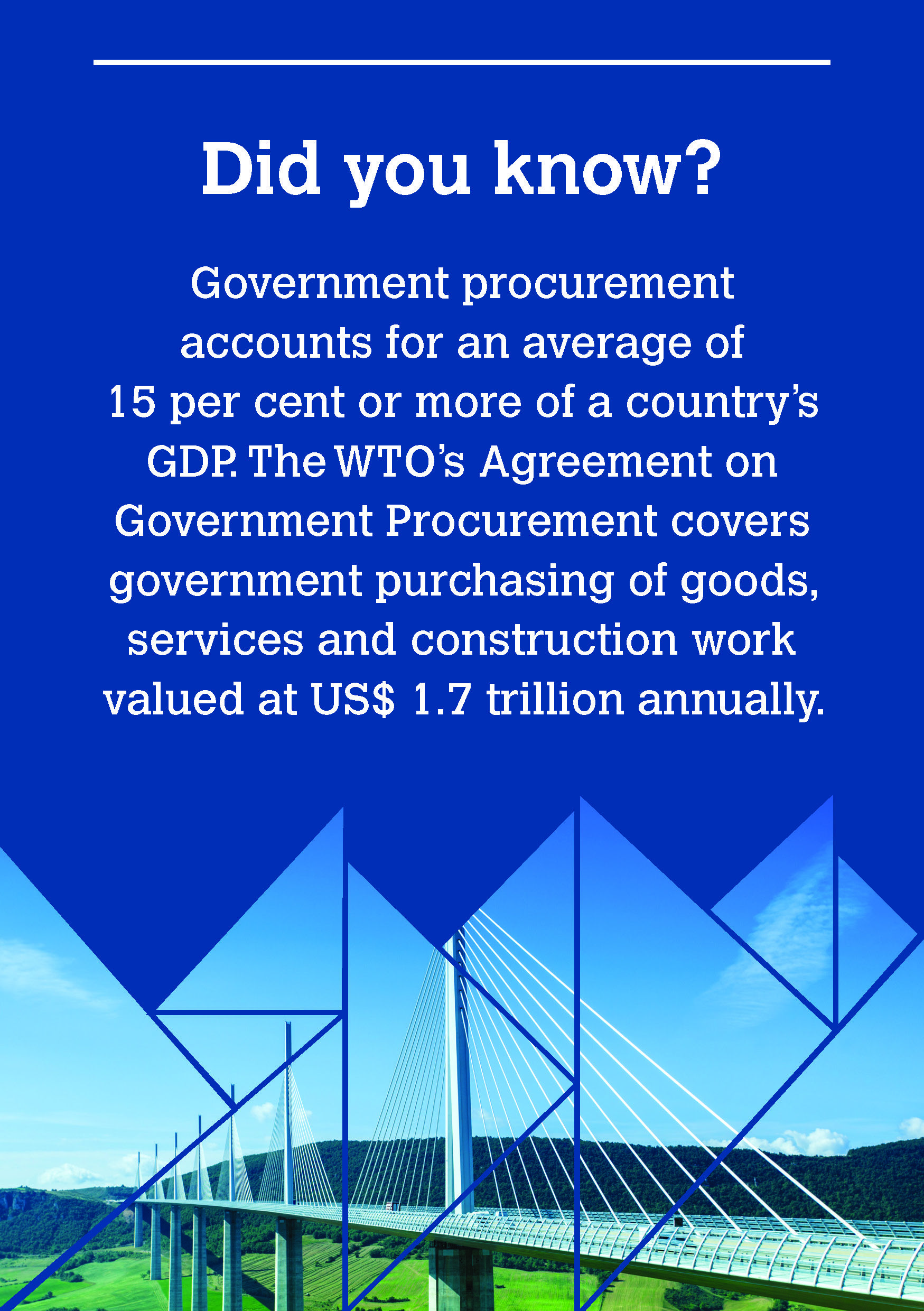 Government Procurement Agreement: Opening markets and promoting good governance                 ‪#‎WTOat20‬  ‪#‎WTO‬