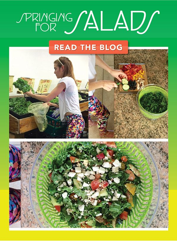 How to Build a Healthy Spring Salad - Fresh ingredients from your local farmer's market! Interesting dressing the deviates from the norm!