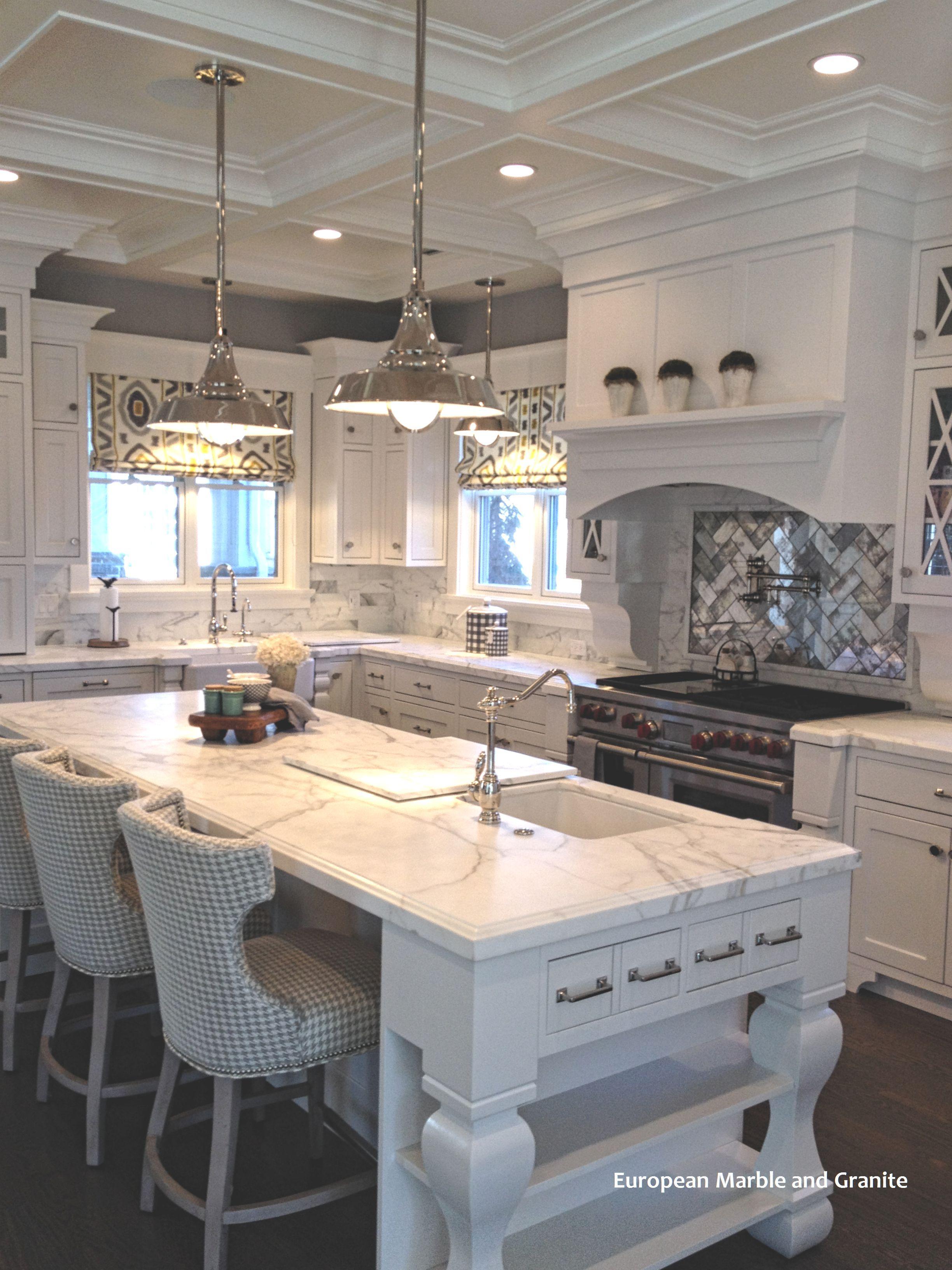 Antique And Mirrored Tile Backsplash Ideas White Kitchen