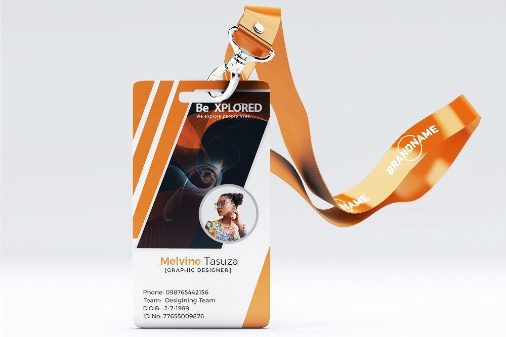 Id Card Template 04 Id Card Template Identity Card Design Card Template