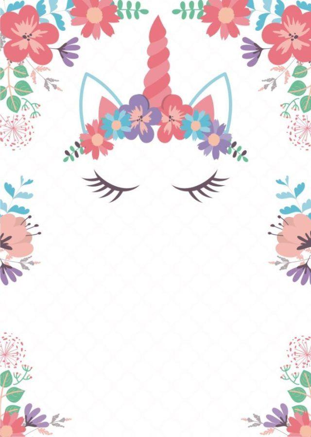 Invitación para Cumpleaños de Unicornio u2013 Editable y Gratis valentina primera comunion