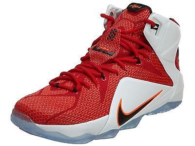 3a1d2452284 Nike Lebron XII 12 Heart Of A Lion Mens 684593-601 Red Basketball Shoes Size  8.5