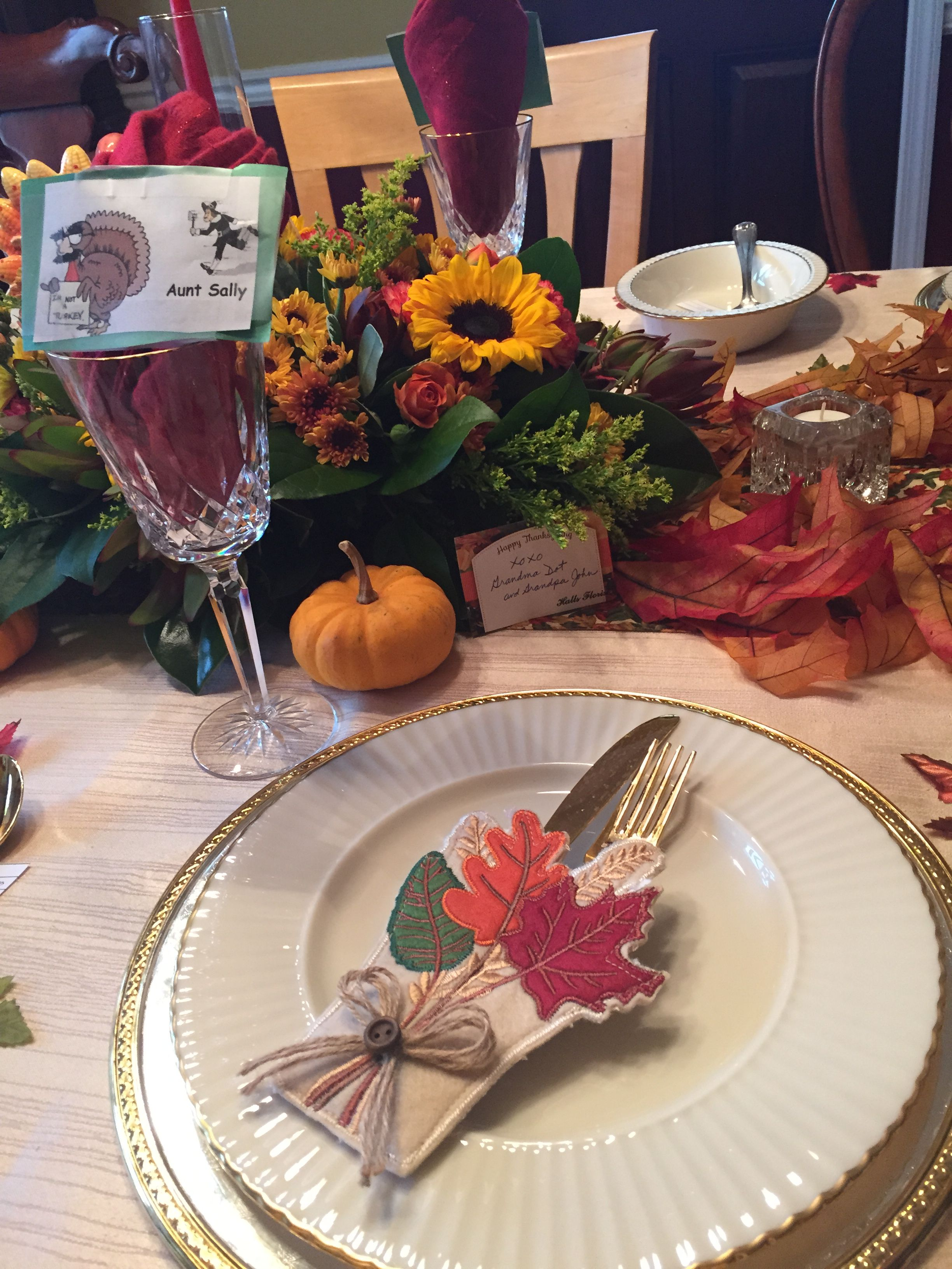 Thanksgiving place setting 2015
