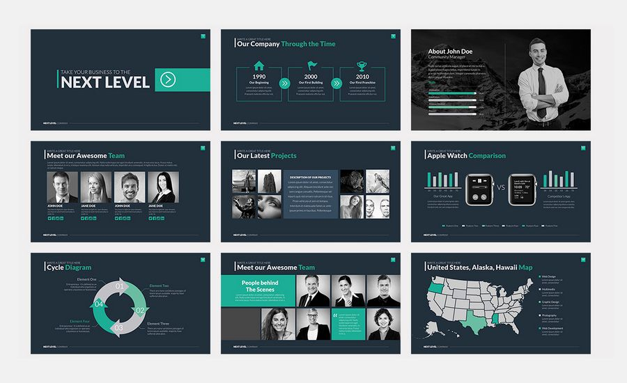 modern template powerpoint
