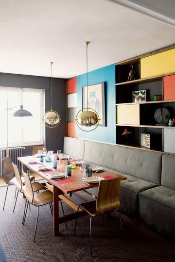 Une banquette pour un esprit bistrot dans la salle à manger 6 photos de salles à manger quon aime côtémaison fr