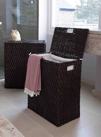 Lined Rectangular Gebang Laundry Basket Perfect For Keeping Your Bathroom Or Laundry Room Clutter Free Storage Baskets Laundry Hamper Large Laundry Basket