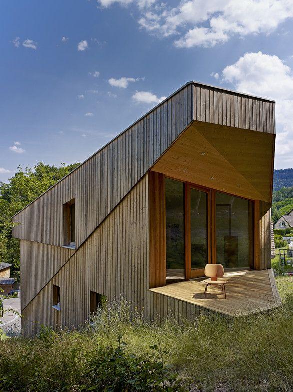 CONSTRUCTION Du0027UNE MAISON DANS LA PENTE A GUEBWILLER Architecture - construction maison terrain en pente