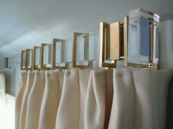 Love These Rectangle Curtain Hooks Acrylic Curtain Rods Modern