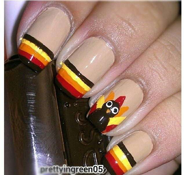 60 Easy Thanksgiving Nail Art Ideas - 60 Easy Thanksgiving Nail Art Ideas Thanksgiving Nails
