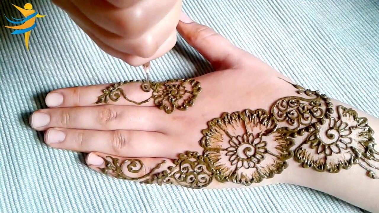 نقش بالحناء بمناسبة عيد الفطر المبارك من سلسلة نقش بالحناء للعيد بمناسبة اقتراب العيد اقدم لاخواتي نقوش حناء Hand Henna Henna Patterns Simple Mehndi Designs