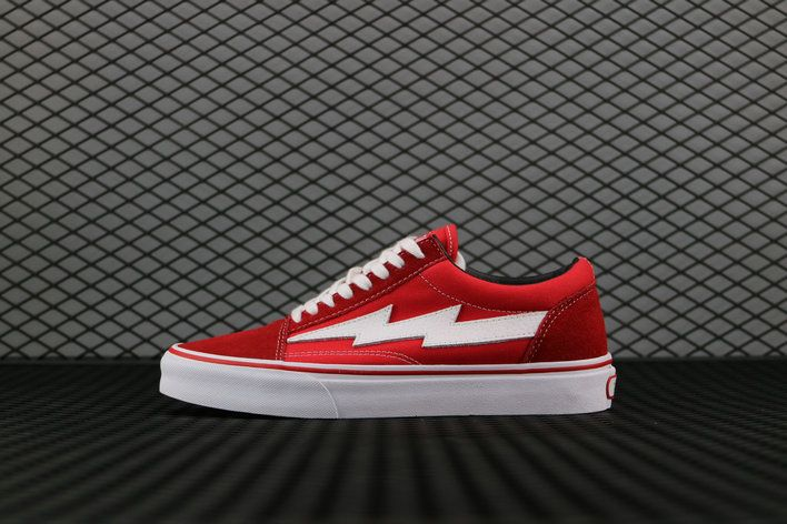 874502a0862b Revenge x Storm Vans Old Skool Skateboard Canvas Red White Vans For Sale   Vans