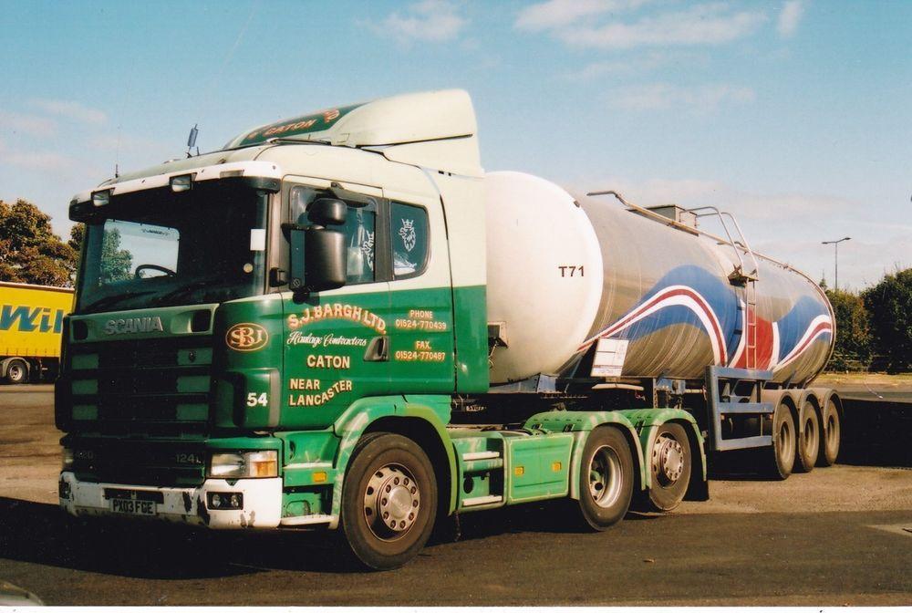 Col Photo S J Bargh Scania 124 Artic Milk Tanker Px03 Fge