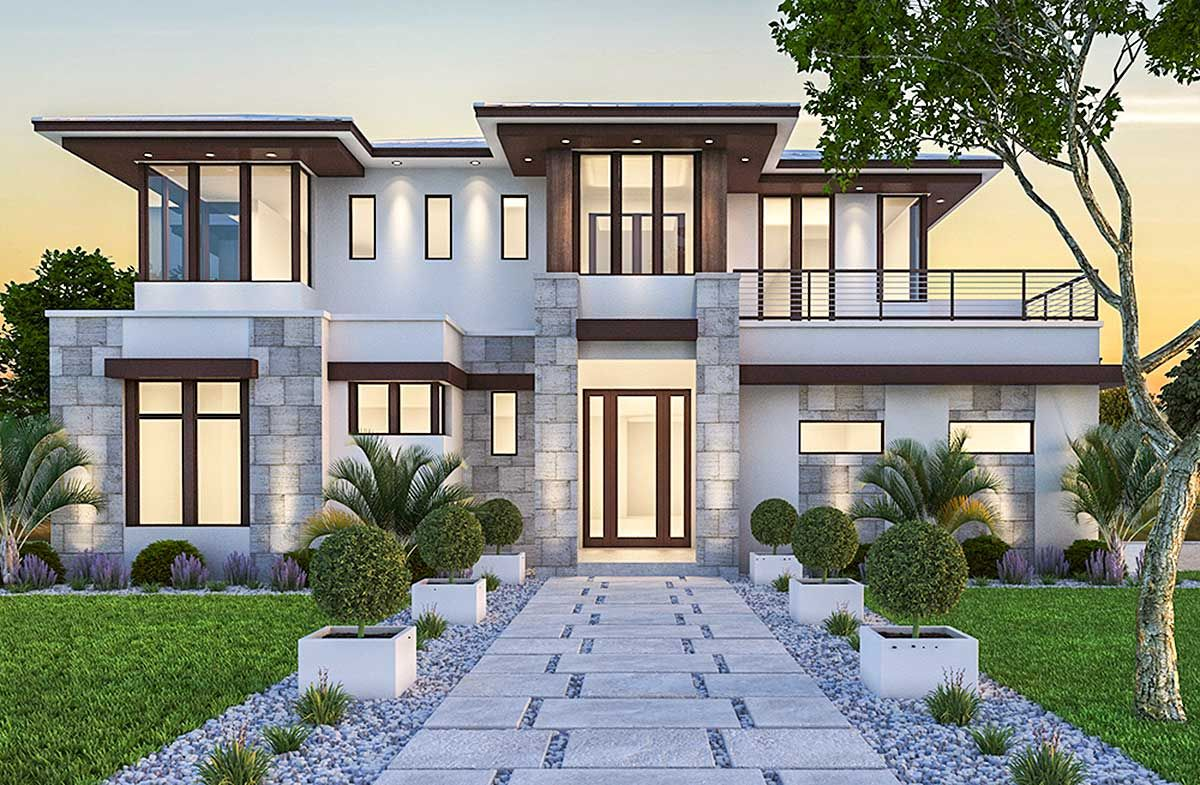 Plan 86033BW Spacious, Upscale Contemporary with Multiple
