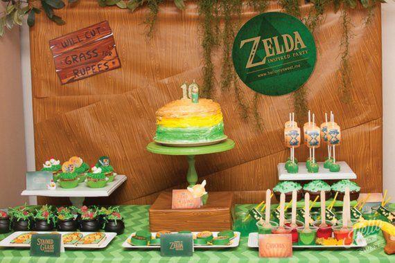 Zelda Party 8x10 Signs