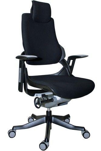 Eurotech Wau High Back Modern Ergo Office Chair Black Frame Black