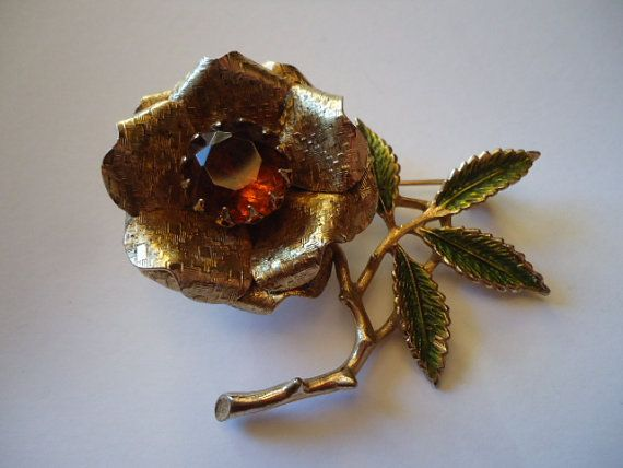 Large SARAH COV BROOCH by CollectibleKeepers on Etsy, $12.00