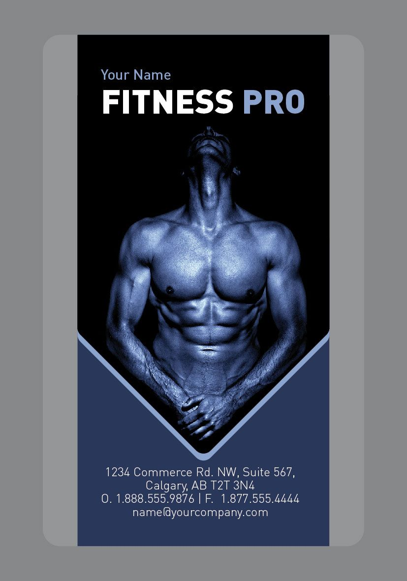 Fitness business card sample by Arc Reactions www.arcreactions.com ...