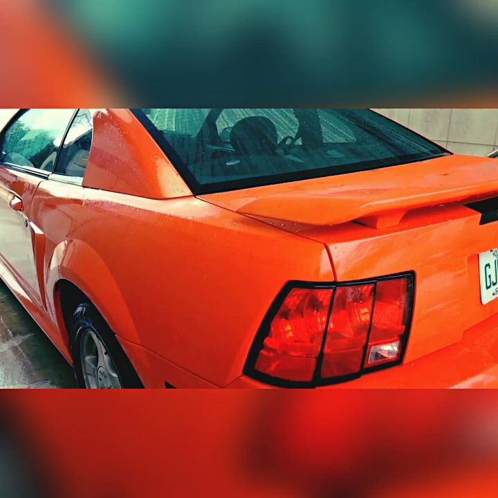 2004 V6 Ford Mustang Competition Orange 40th Anniversary Mustang Ford Mustang Ford