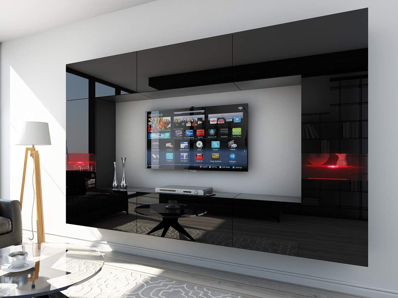 Homedirectltd Future 29 Moderne Wohnwand Exklusive Mediamobel Tv Schrank Schrankwand Tv Element Anbauwand Garnitur Grosse Wohnen Medien Mobel Wohnung