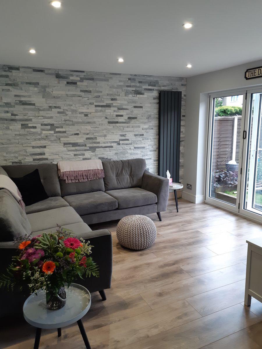 Tiles Design For Living Room Wall: Sparkle Ice Grey Split Face Mosaic Tiles