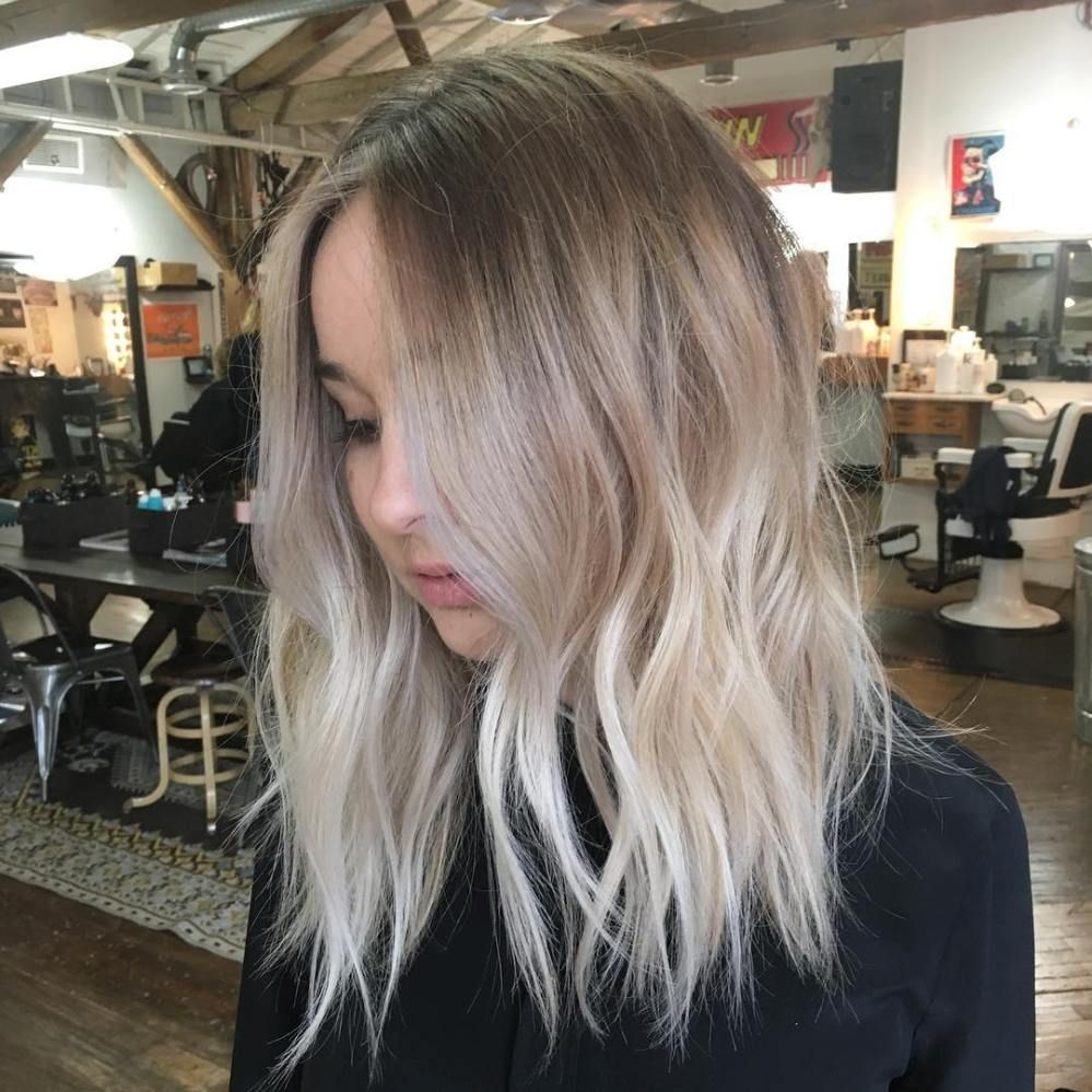 Ash blonde balayage for medium hair lipcolorsforbrunettes lip